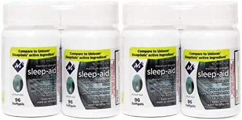 Member's Mark Maximum Strength Nighttime Sleep Aid, Diphenhydramine HCI 50 mg ( Multi pack of 384 softgels)
