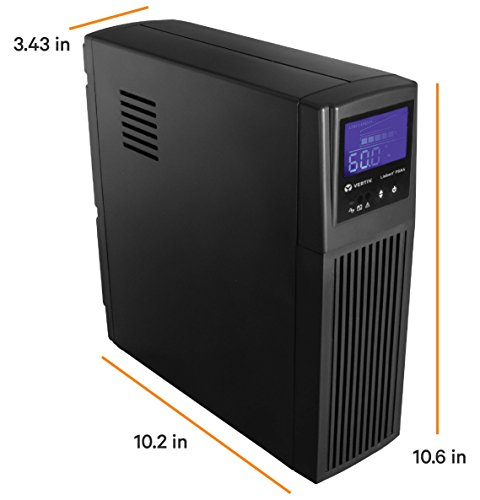 Liebert Uninterruptible Power Supply Mini-Tower Battery Backup & Surge Protection 3 SURGE PROTECTION & BATTERY BACKUP - 700VA/420W Line-Interactive, TAA Compliant UPS for guaranteed protection of desktop computers, gaming consoles, workstations, networks/routers, surveillance & other electronics 8 TOTAL OUTLETS & USB - 4 surge only & 4 battery & surge outlets with built in USB port, included USB cable EXCELLENT WARRANTY - 3 year full unit coverage including the battery with no-hassle, advanced replacement warranty