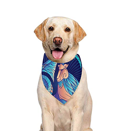 JTMOVING Dog Scarf Capricorn Zodiac Sign Astrological Horoscope Symbol Printing Dog Bandana Triangle Kerchief Bibs Accessories for Large Boy Girl Dogs Cats Pets Birthday Party Gift