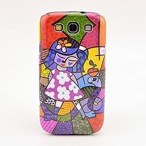 CL - Falda de la flor de la muchacha Caso del modelo de la pintura al óleo para el Galaxy 3 I9300