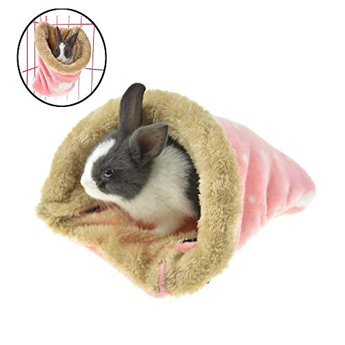 MUYAOPET Hanging Hamster Rat Bed Hammock for Cage Winter Warm Fleece Small Animal Rabbit Guinea Pig Bed House (L(7.8X6.3X5.5inch), ()