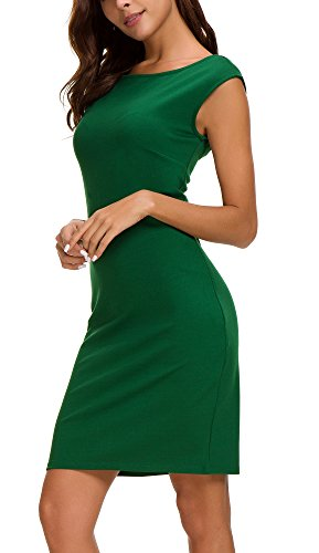 Tank Sheath - Urban CoCo Women's Sheath Tank Dress Sleeveless Bodycon Midi Dress (XL, Dark Green)