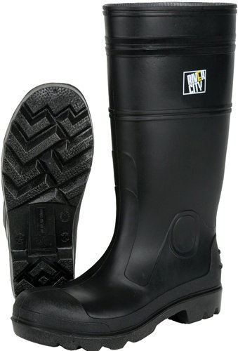 MCR Safety PBP1209 Waterproof PVC Mens Knee Boot with Plain Toe, Black, Size 9, 1-Pair