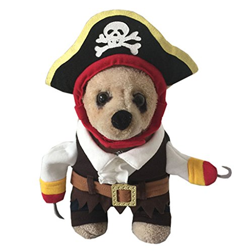 YOLSUN Caribbean Pirate Pet Costume for Little Dogs & Cats (S) ()
