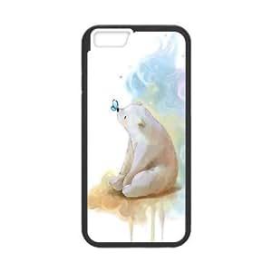 IPhone 6 Plus Cases Bear Illustration, Case Iphone 6 Plus Case - [Black] Kweet