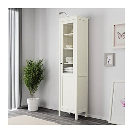 Amazon Ikea Hemnes Cabinet With Panelglass Door White Stain