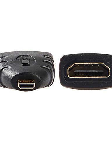 Micro HDMI Male to HDMI V1.4 Female Adapter by HHPH