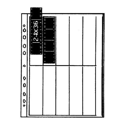 35 mm papel, vertical 10 tiras x 4 negativos, glassine Kaiser KA2513 Hojas negativos transparente//blanco