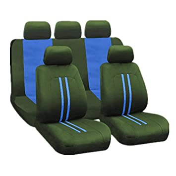 Four Seasons Universal Craft Fabric Cushion 9Pcs // Set Funda para asiento de autom/óvil Universal para 5 asientos Rose Red,Verde
