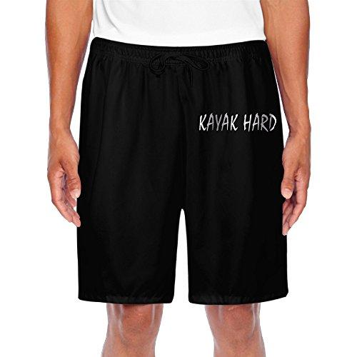 Men's KAYAK HARD Platinum Style Shorts Running Pants Black