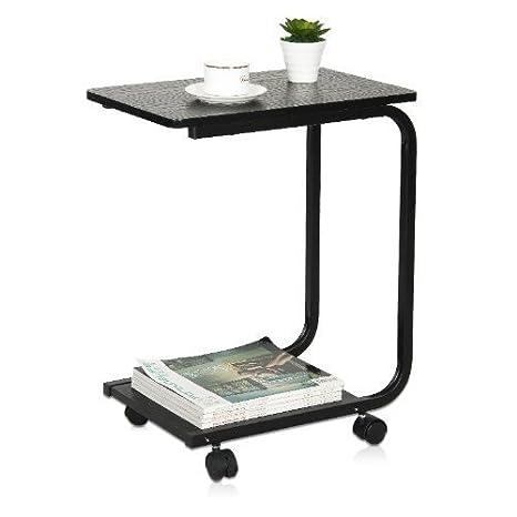 Furinno FNBJ 22032 1 Bu0026W U Shaped Side Table, Black: Amazon.co.uk: Kitchen  U0026 Home