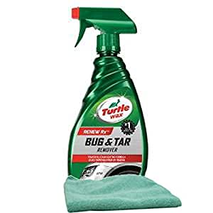 Turtle Wax Bug & Tar Remover (16 oz.) Bundle with Microfiber Cloth (2 Items)