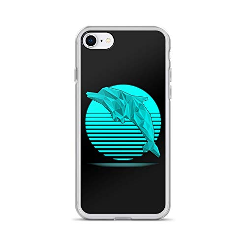 - iPhone 7/8 Case Anti-Scratch Creature Animal Transparent Cases Cover Low Poly Dolphin Animals Fauna Crystal Clear