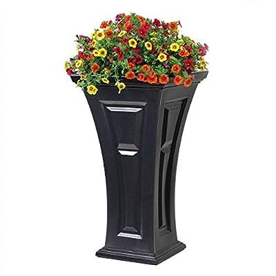FCMP Outdoor HP-Bk Heritage (2 Pack) Planter, Black : Garden & Outdoor