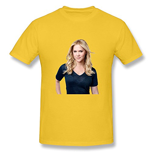 Men Style Blank Amy Schumer T Shirts Size XL Color Yellow