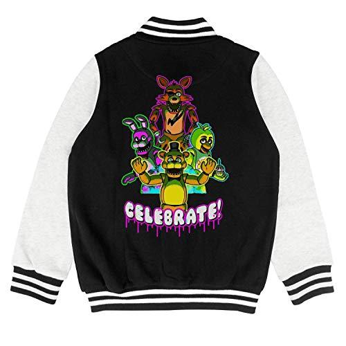 Five-Funny-Nights-at-Freddy- Kids Baseball Jacket Cartoon Coat -