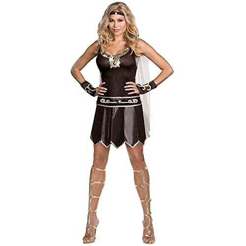 Ladies Greek Xena Gladiator Warrior Princess Roman Spartan Women Adult Cosplay Costume (L) -