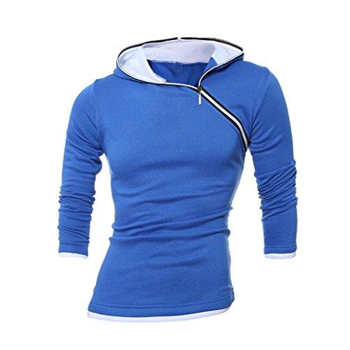 Amazon.com: Muranba Chaqueta de la chaqueta de la sudadera con capucha caliente de la sudadera con capucha del invierno de los hombres Outwear el suéter (XL ...
