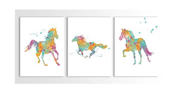 Running Horse Painting Wall Poster Art Modern Decorative Paint Unframed 11010#@~