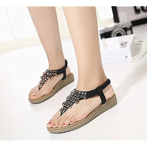 93acc2b96 85% OFF TieNew Sandalias de Mujer Verano Zapatillas de Playa Bohemia Planas Chanclas  Zapatos