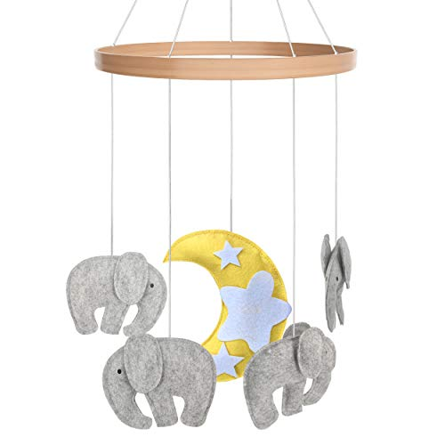 - Baby Crib Mobile - Toys Perfect for Boys + Girls by i love bub - Elephant
