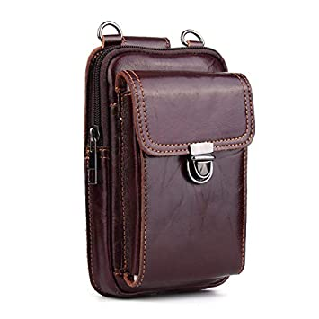 ce0da2e45f8a Amazon.com: Leather Belt Bag, Men Genuine Leather Wallet Cellphone ...