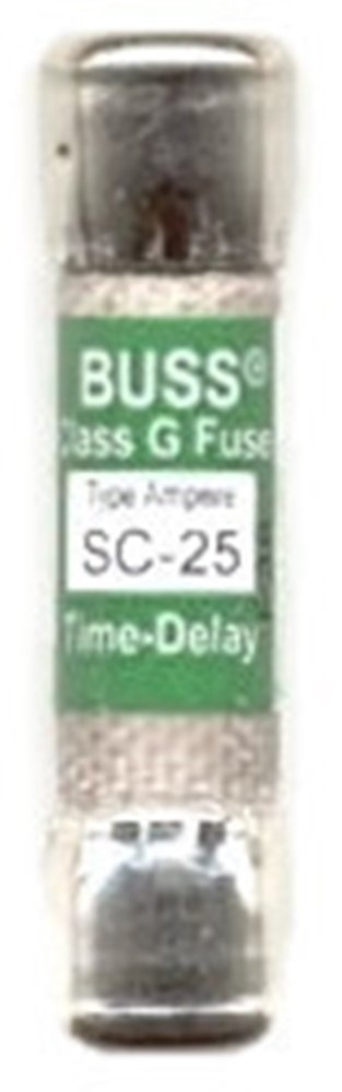 Bussmann SC-25 Fuse 25a 600v Time-delay Class G Melamine Tube, Ul Listed. 6239343