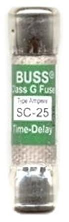 25Amp Bussmann Time-Delay Class Fuse G Melamine Tube 480V SC-25 SC-25