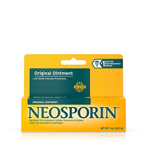 Neosporin Original Antibiotic Ointment, 24-Hour Infection Prevention for Minor Wound, 1 oz
