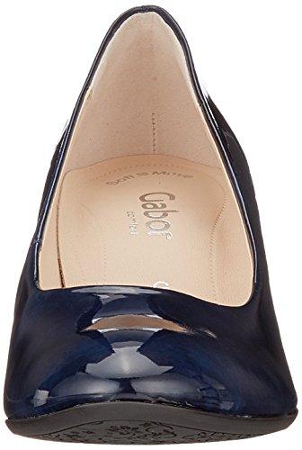 Scarpe Blu Marine Fashion Tacco con Gabor Donna Comfort q0Y0E