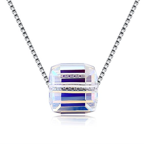 - Necklace for Women - 925 Sterling Silver and Crystal from Swarovski Fine Jewelry Hypoallergenic - Perfect for Gift