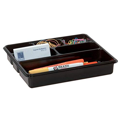 Office Depot 6-Compartment Utility Tray, 8in. x 9in, Black, 59769