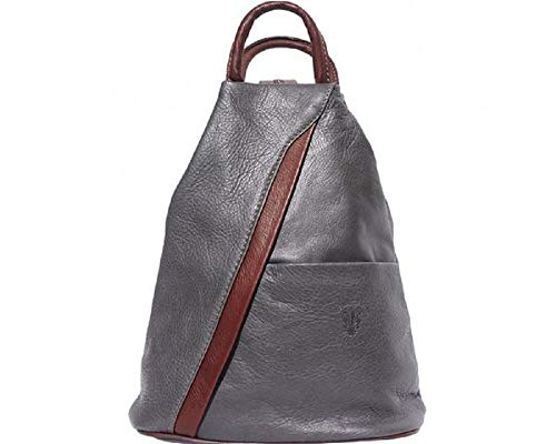 LaGaksta Submedium Fashion Leather Backpack Purse Shoulder Bag Grey-Brown ()