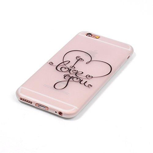 Voguecase® für Apple iPhone 6/6S 4.7 hülle, Schutzhülle / Case / Cover / Hülle / TPU Gel Skin mit Nachtleuchtende Funktion (I love you 04) + Gratis Universal Eingabestift