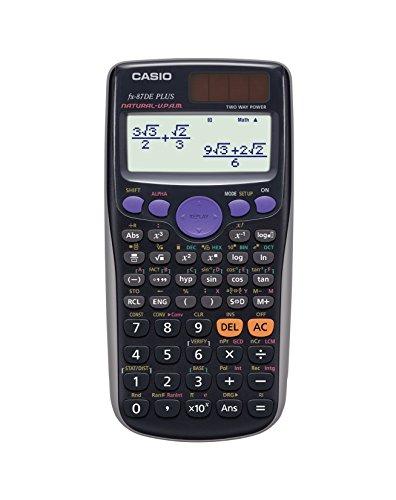 Casio FX-87DE Plus wissenschaftlicher Rechner mit natürlichem Display, 502 Funktionen, Verteilungsfunktion
