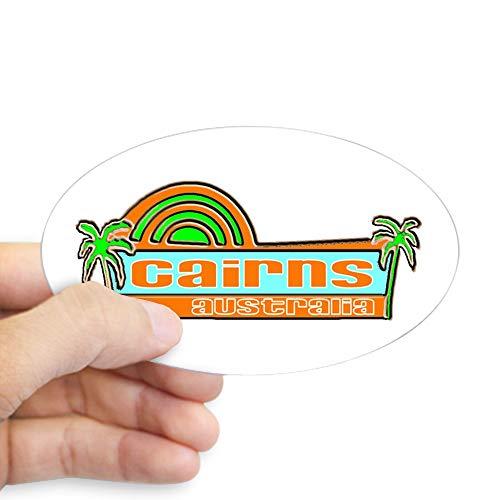 (CafePress Cairns, Australia Oval Sticker Oval Bumper Sticker, Euro Oval Car Decal)