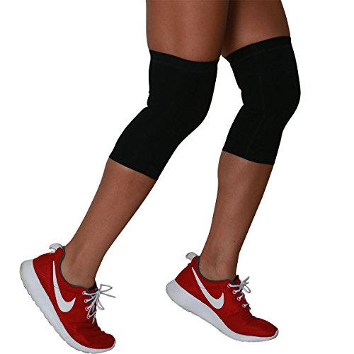 Compression Knee Sleeves - Relieve Knee Pain, Runners Knee, Patella Support - Perfect for Running, Basketball, Soccer, Working Out, Everyday Wear - Reduce Inflammation and Improve Circulation - Knee Support, Knee Brace - PureCompression