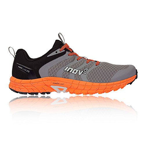 (Inov-8 Mens Parkclaw 275 - Trail Running Shoes - Wide Toe Box - Versatile Shoe for Road and Light Trails - Grey/Orange 10.5 M US)