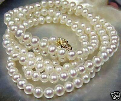 FidgetGear Charmming!7-8mm White Akoya Cultured Pearl Necklace Choose Length 17 inch Length