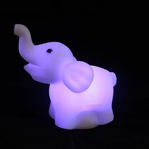 Mio.oo Elefante de plástico LED 7 color que cambia la decoración de la habitación