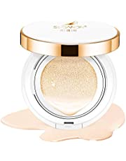 BB Cream Cushion Foundation Makeup Long Lasting Cover Moisturizing Compact Natural Full Face Cover Hydrating Concealer Light Concealing SPF50 PA+++ 15g