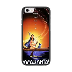 Pocahontas S6Q5OQ3H Caso funda iPhone 6 del teléfono celular de 4.7 pulgadas Caso funda Negro