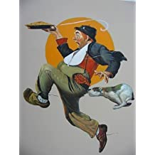 16X20 inch Norman Rockwell Canvas Print RePro Fleeing Hobo