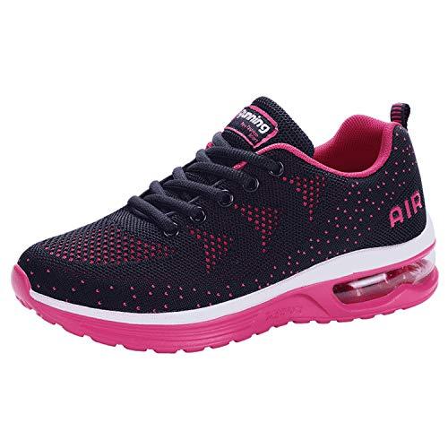(JACKSHIBO Womens Sneakers, Athletic Tennis Running Shoes Air Cushion Comfortable Gym Sneakers)
