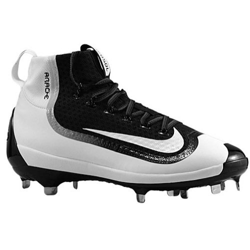 - Nike Mens Air Huarache 2kfilth Elite Mid Metal Cleats 8 US Black/White