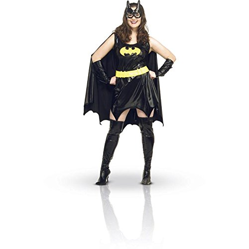 DC Comics Batgirl Plus Size Adult Costume, Black, (Plus Size Girls Halloween Costumes)