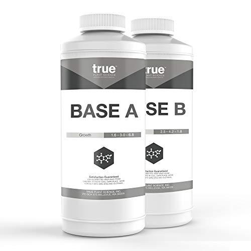 True Base A+B Set Complete Plant Growing Nutrient Formula Quart (2 x 32 oz)