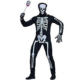 Herren Halloween Karneval Fasching Skelett Kostüm und Maske