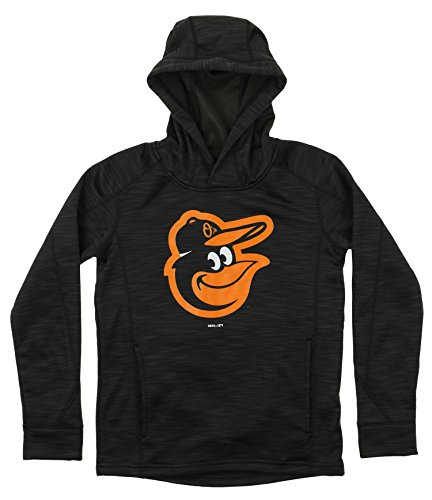 Outerstuff MLB Youth's Performance Fleece Primary Logo Hoodie, Baltimore Orioles Medium (10-12) ()