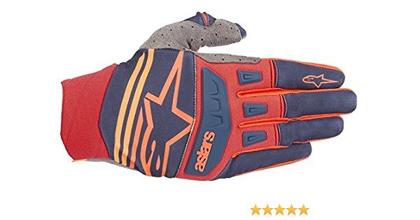 Alpinestars Unisex-Adult Techstar Gloves Dark Blue//Red//Orange Xl Multi, one/_size